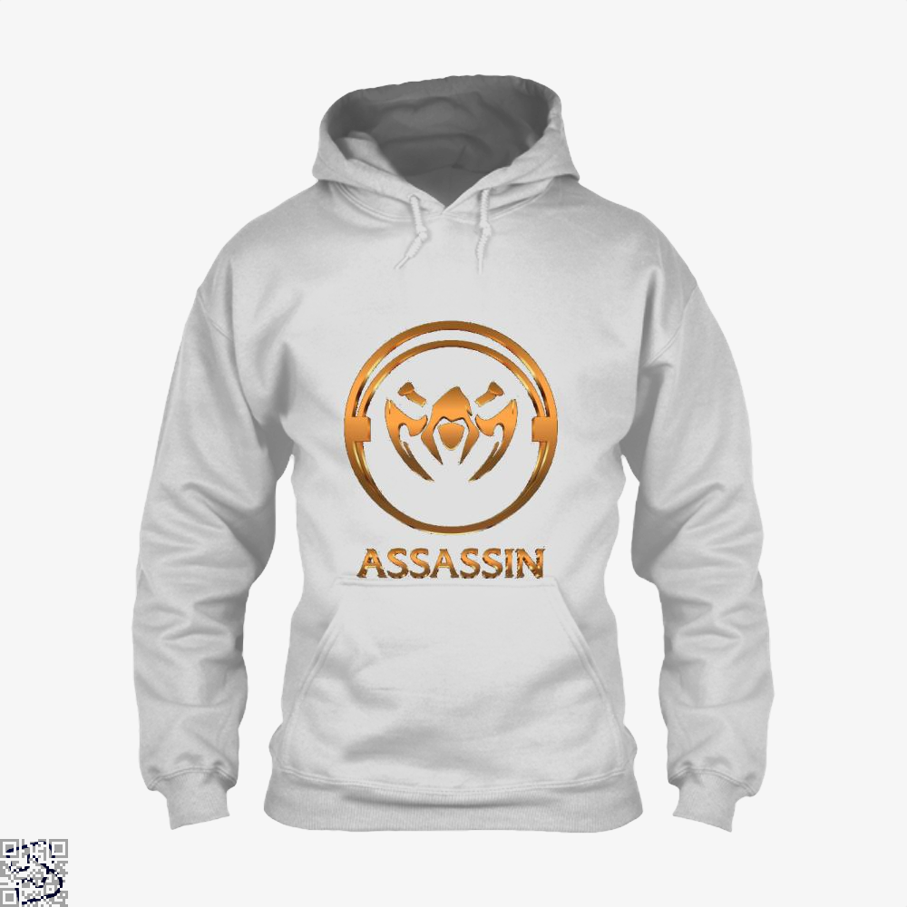 Assassin Gold Emblem Assassins Creed Hoodie - White / X-Small - Productgenjpg