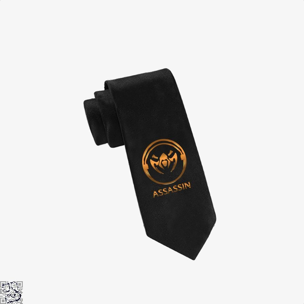 Assassin Gold Emblem Assassins Creed Tie - Black - Productgenjpg