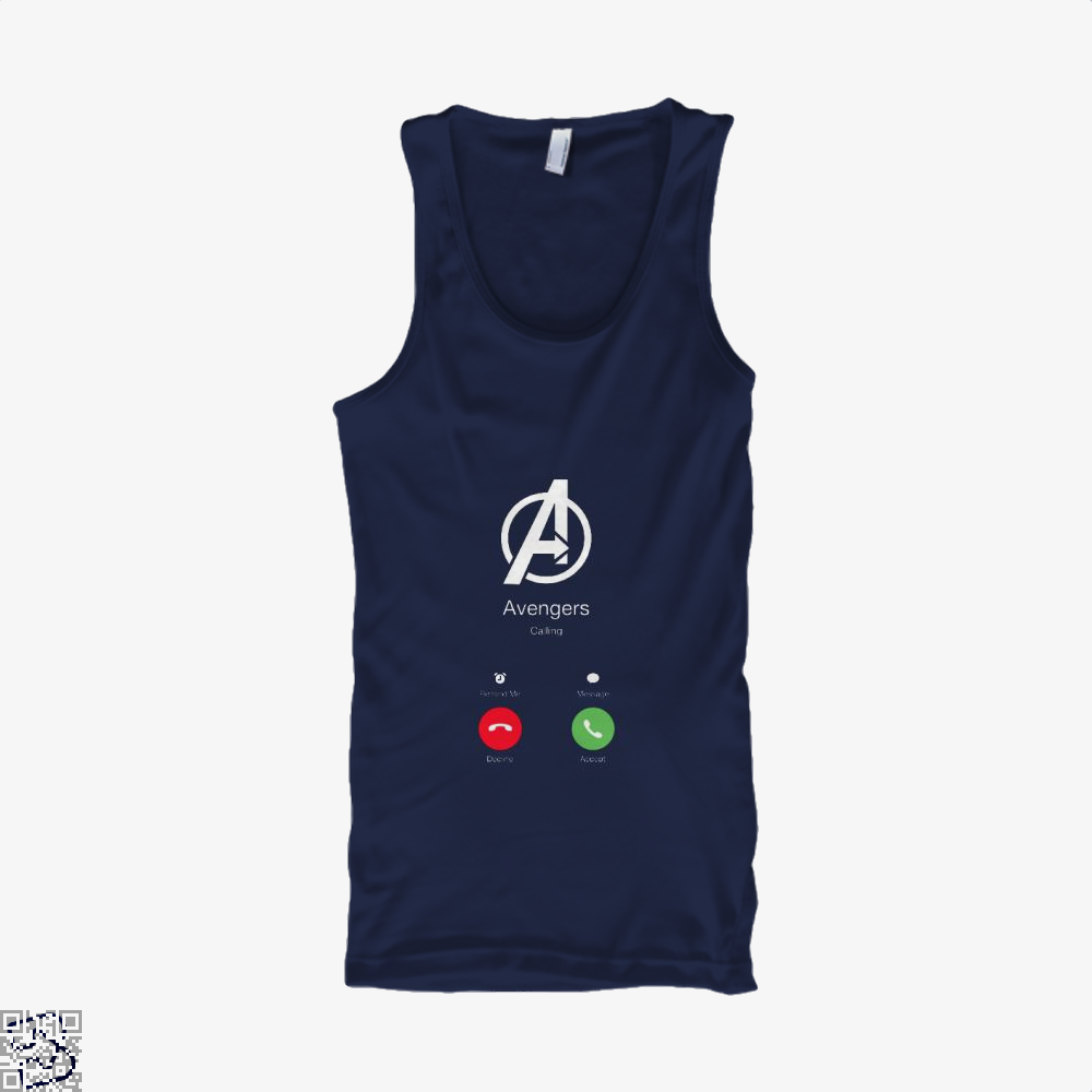 Avengers Calling Infinity War Tank Top - Men / Blue / Small - Productgenapi