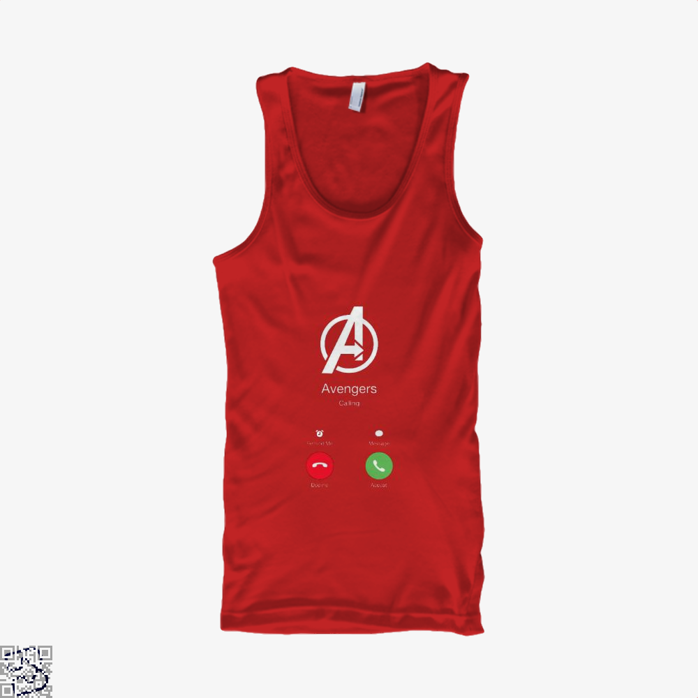Avengers Calling Infinity War Tank Top - Women / Red / Small - Productgenapi