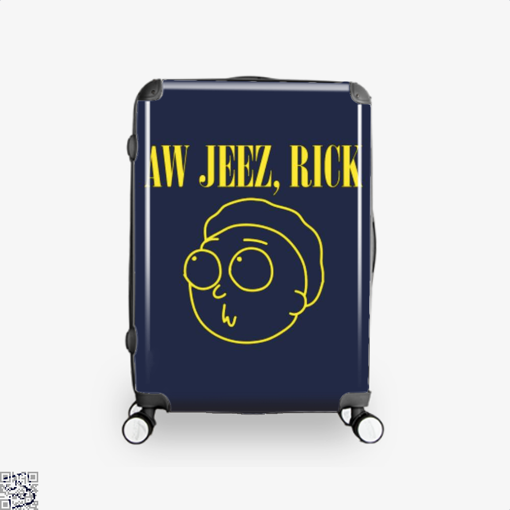 Aw Jeez Rick And Morty Suitcase - Blue / 16 - Productgenapi