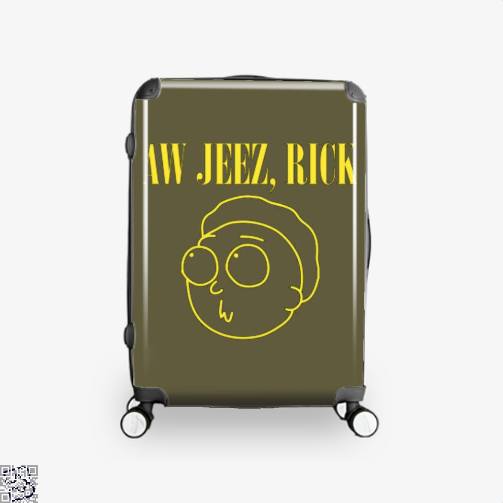Aw Jeez Rick And Morty Suitcase - Brown / 16 - Productgenapi