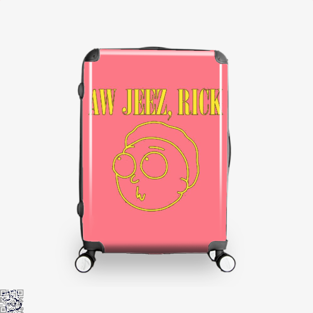 Aw Jeez Rick And Morty Suitcase - Pink / 16 - Productgenapi