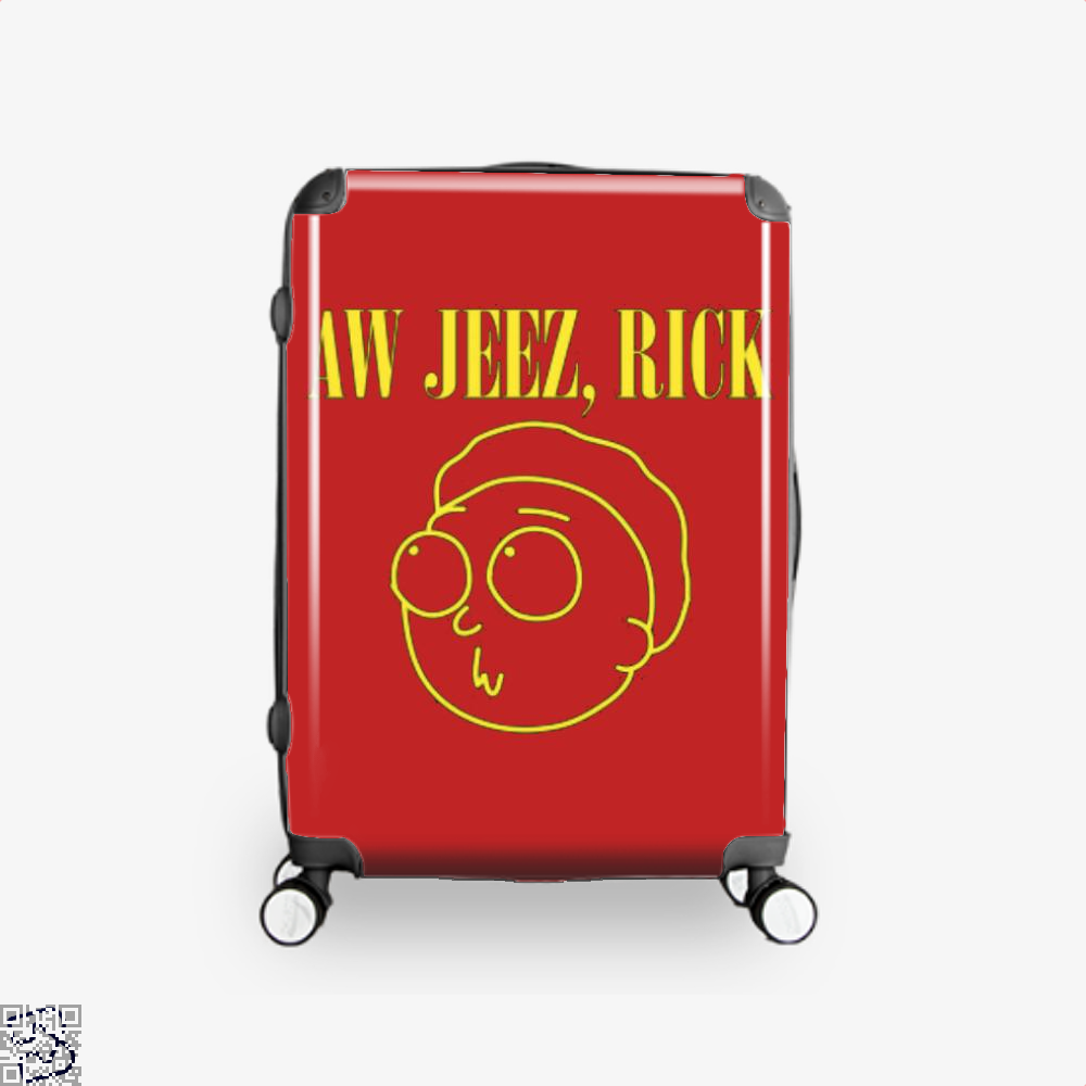 Aw Jeez Rick And Morty Suitcase - Red / 16 - Productgenapi