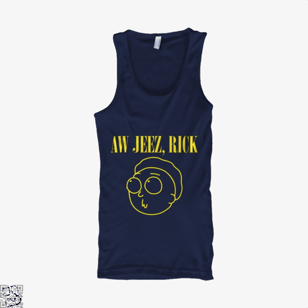 Aw Jeez Rick And Morty Tank Top - Men / Blue / Small - Productgenapi