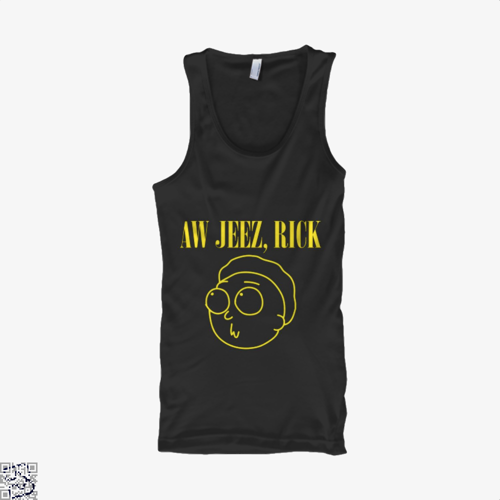 Aw Jeez Rick And Morty Tank Top - Women / Black / Small - Productgenapi