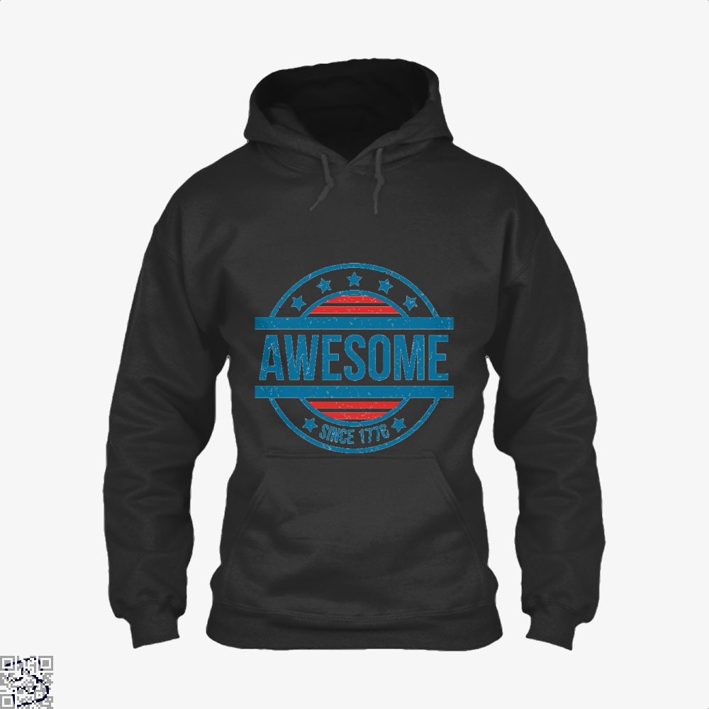 Awesome Since 1776 Independence Day Hoodie - Black / X-Small - Productgenjpg