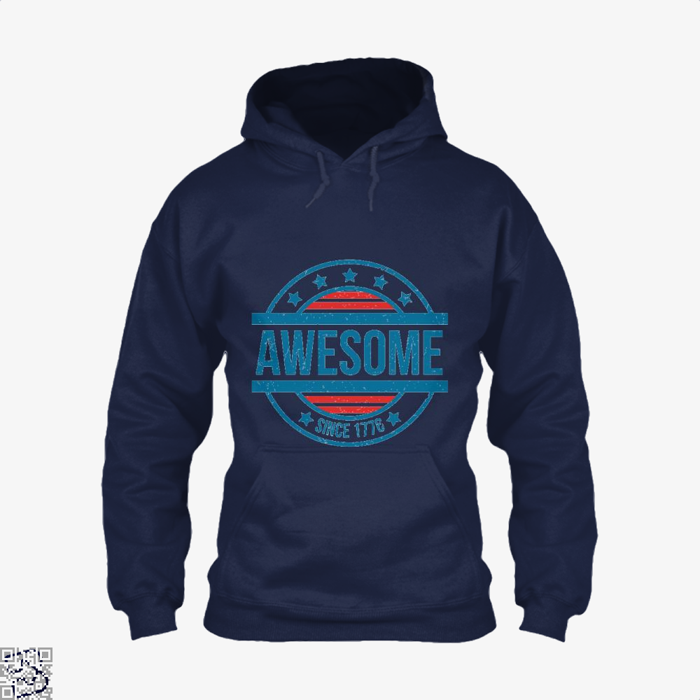 Awesome Since 1776 Independence Day Hoodie - Blue / X-Small - Productgenjpg