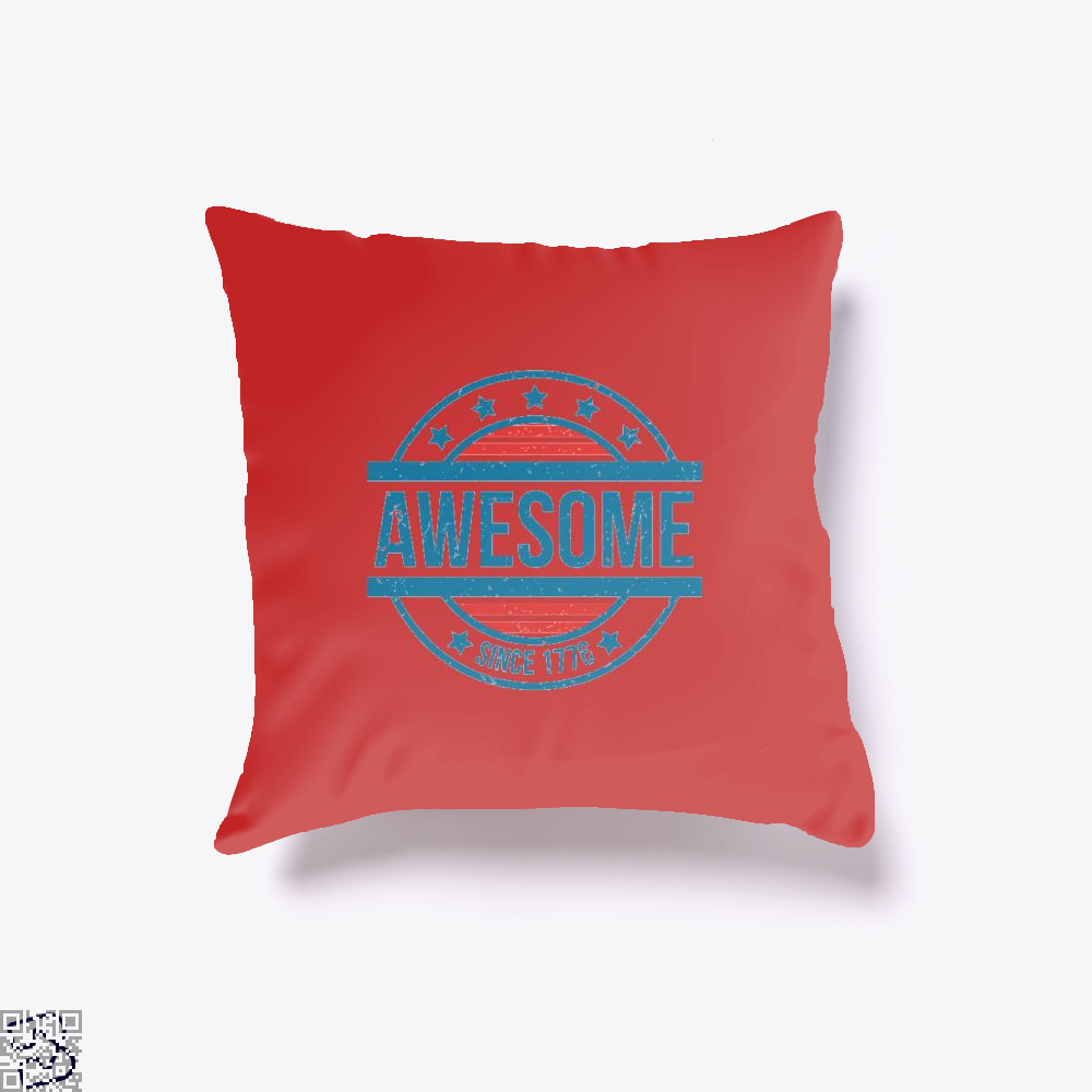 Awesome Since 1776 Independence Day Throw Pillow Cover - Red / 16 X - Productgenjpg