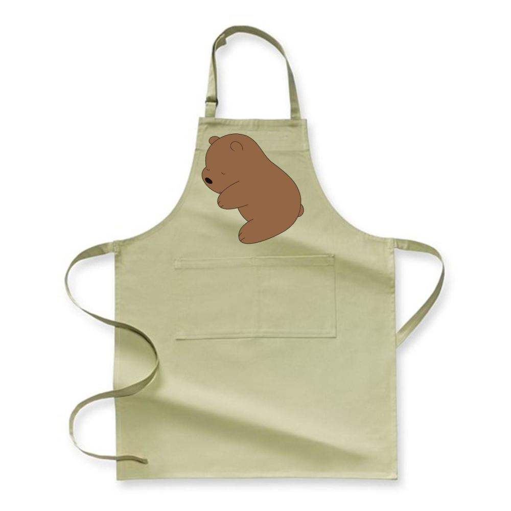 Baby Grizz We Bare Bears Apron - Green / Polyester - Productgenapi