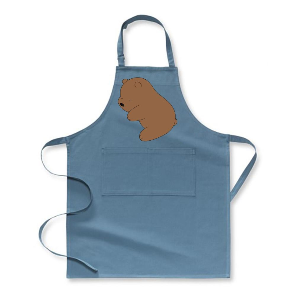 Baby Grizz We Bare Bears Apron - Turquoise / Polyester - Productgenapi