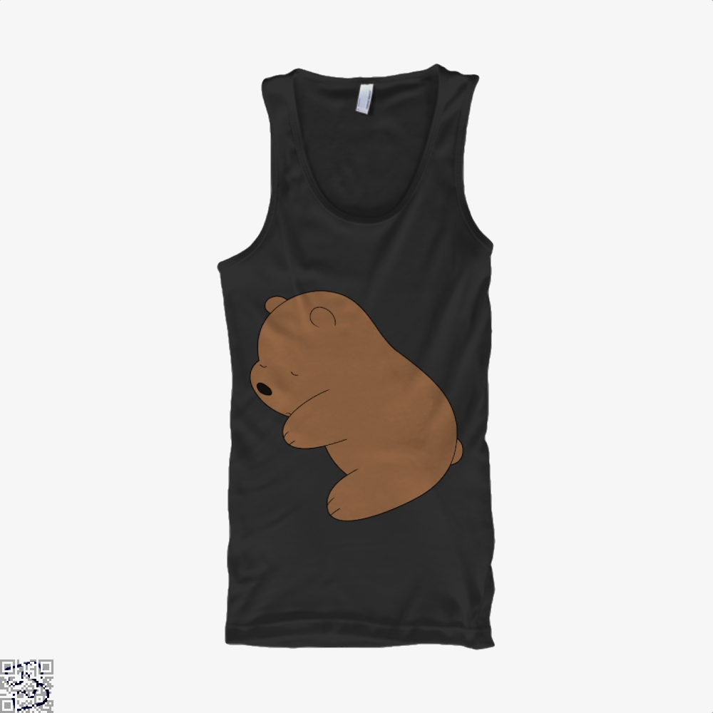 Baby Grizz We Bare Bears Tank Top - Men / Black / Small - Productgenapi