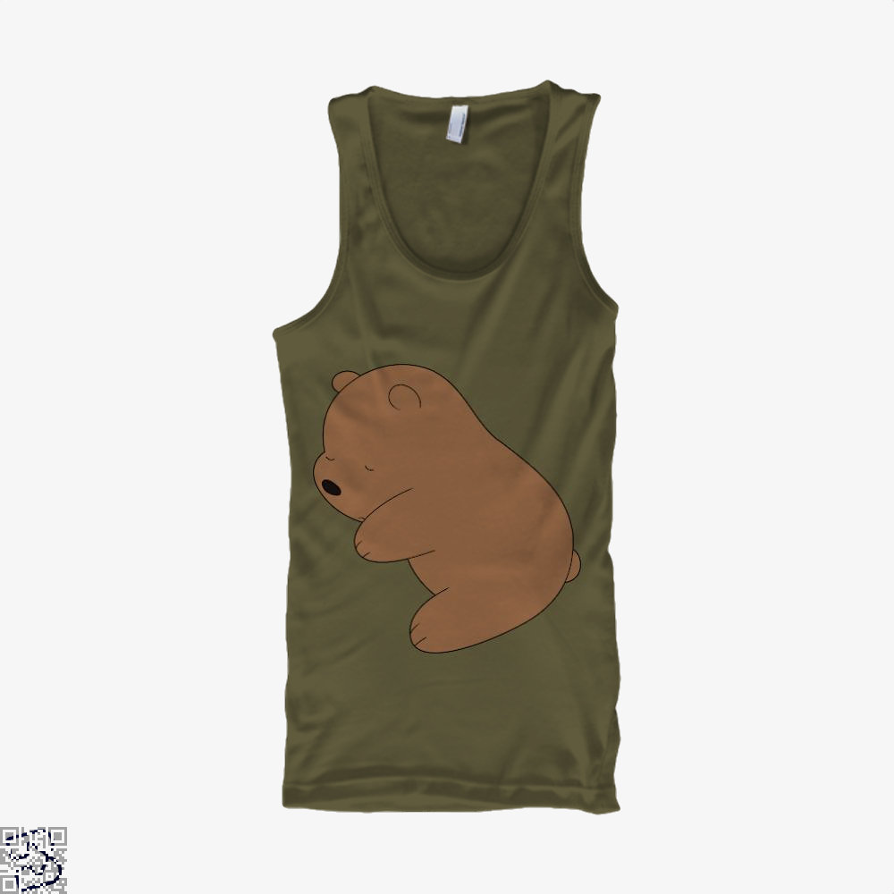 Baby Grizz We Bare Bears Tank Top - Men / Brown / Small - Productgenapi