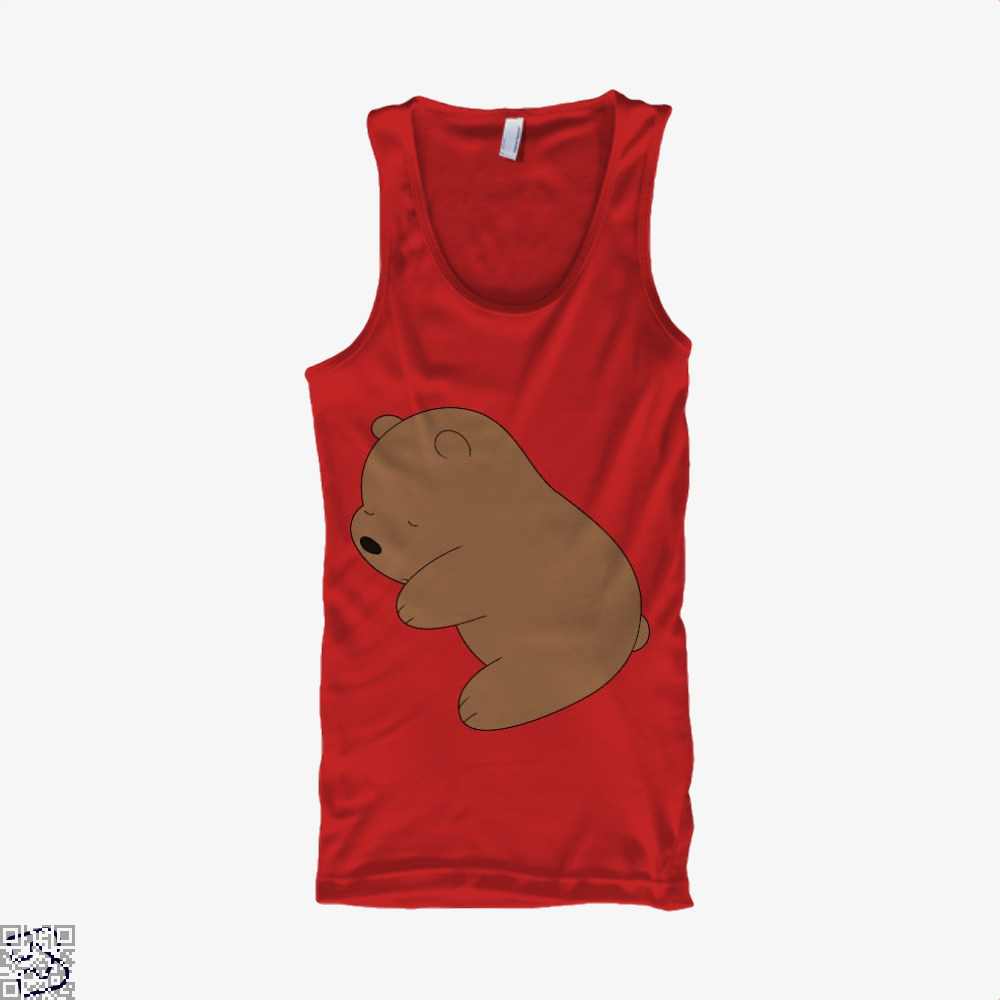 Baby Grizz We Bare Bears Tank Top - Women / Red / Small - Productgenapi