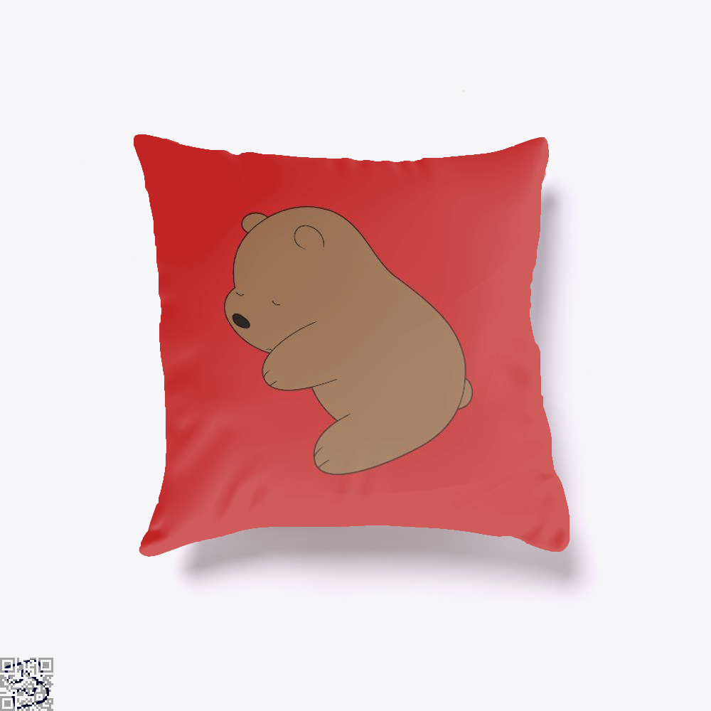 Baby Grizz We Bare Bears Throw Pillow Cover - Red / 16 X - Productgenapi