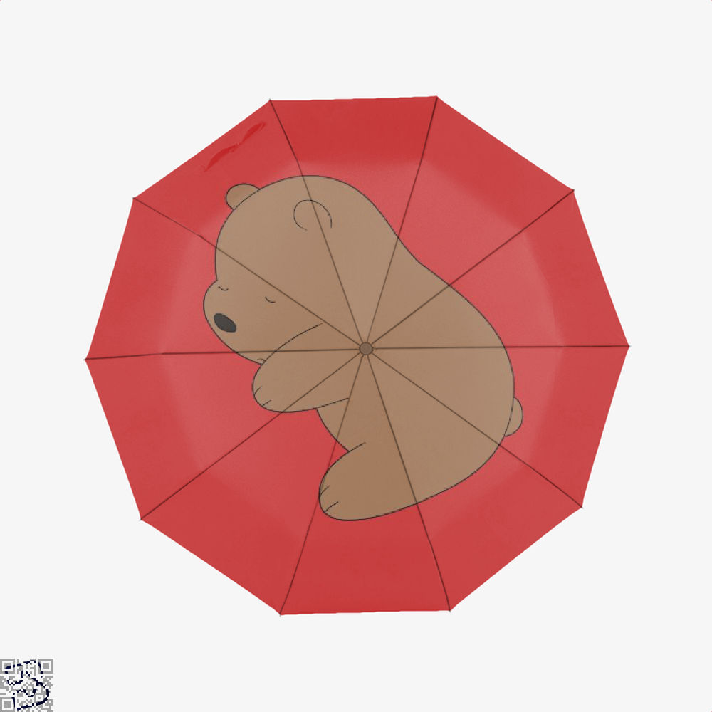 Baby Grizz We Bare Bears Umbrella - Red - Productgenapi