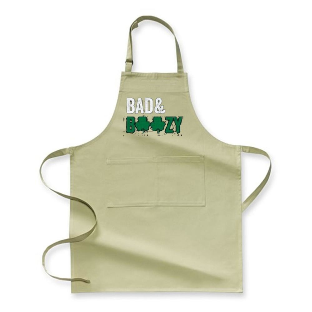 Bad Boozy Deadpan Apron - Green / Polyster - Productgenjpg