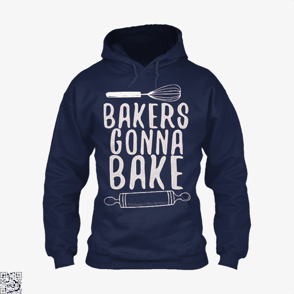 Bakers Gonna Bake Funny Hoodie - Blue / X-Small - Productgenjpg