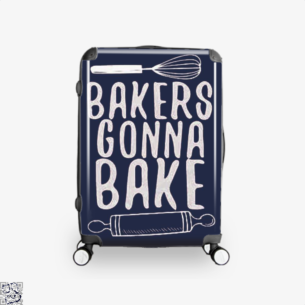 Bakers Gonna Bake Funny Suitcase - Blue / 16 - Productgenjpg