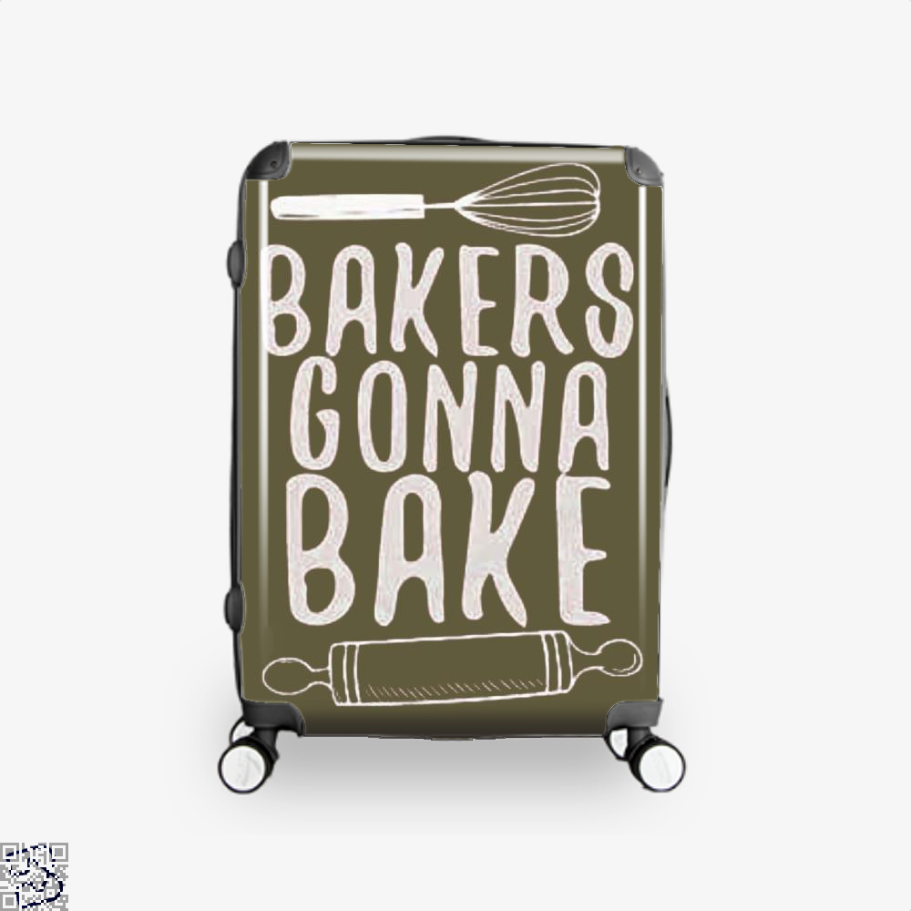 Bakers Gonna Bake Funny Suitcase - Brown / 16 - Productgenjpg