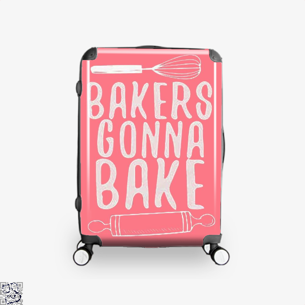 Bakers Gonna Bake Funny Suitcase - Pink / 16 - Productgenjpg
