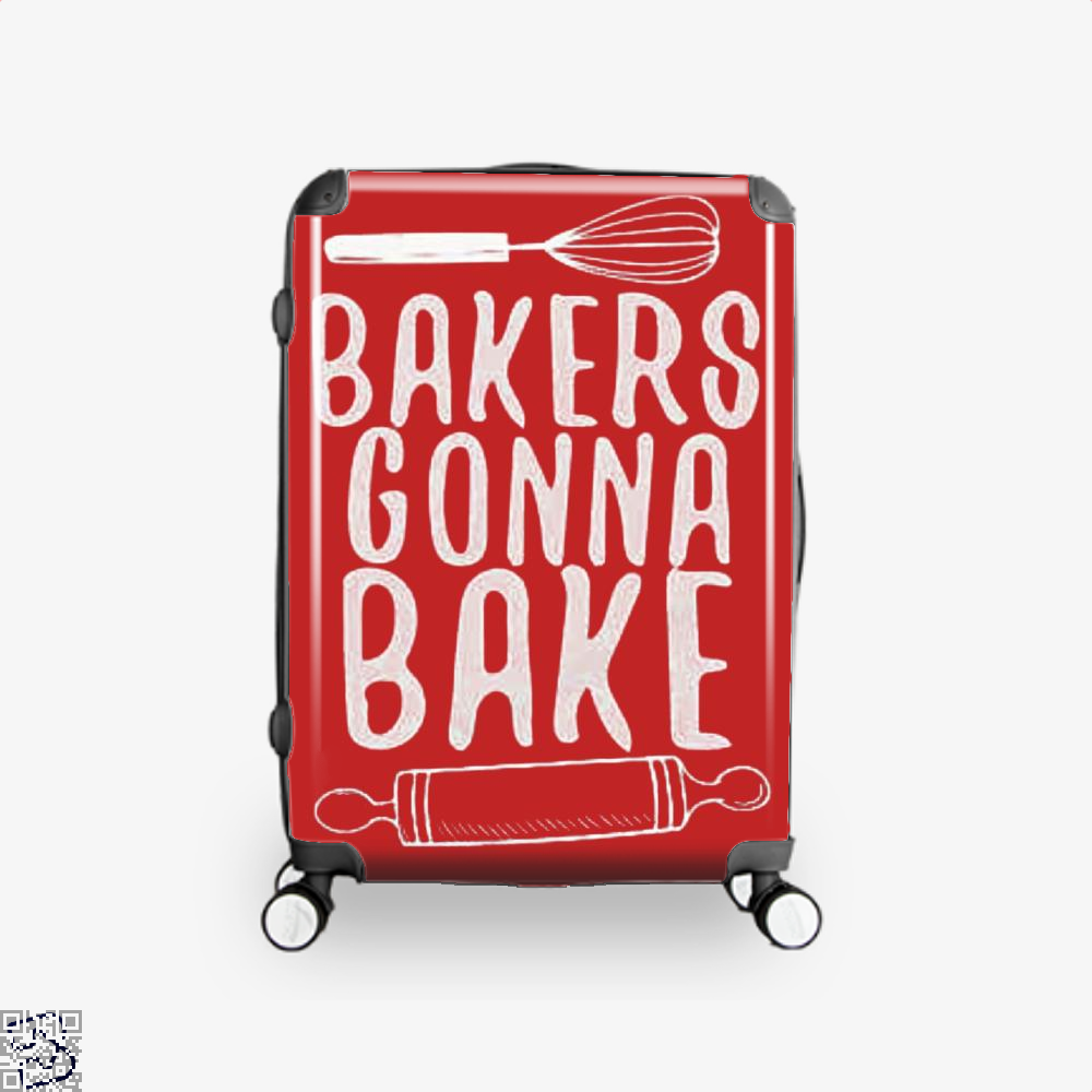 Bakers Gonna Bake Funny Suitcase - Red / 16 - Productgenjpg