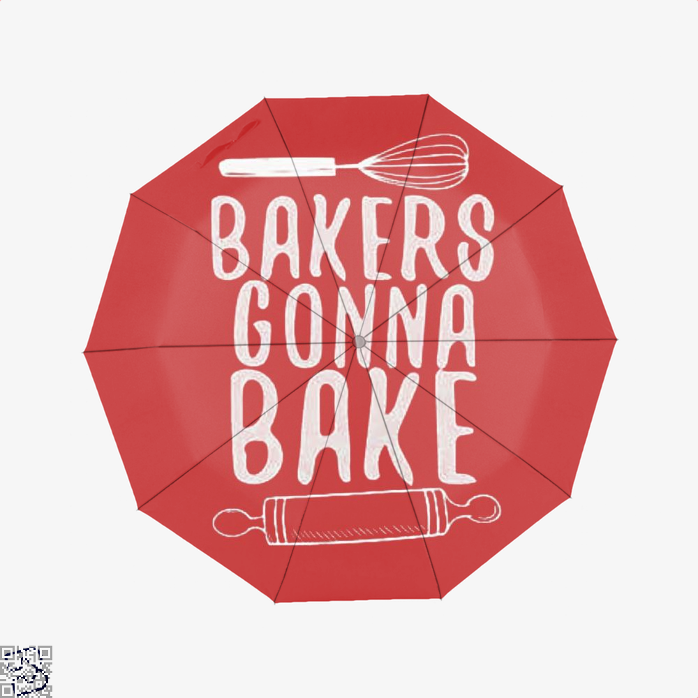 Bakers Gonna Bake Funny Umbrella - Red - Productgenjpg
