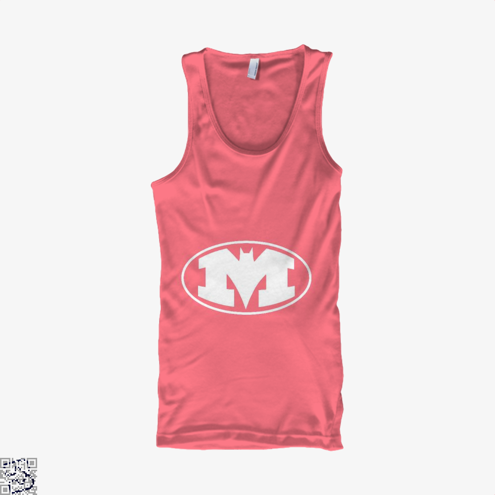Bat-Michigan Dark Batman Tank Top - Women / Pink / Xx-Small - Productgenjpg