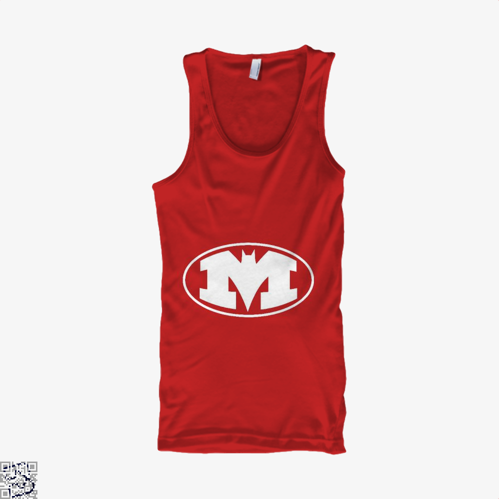 Bat-Michigan Dark Batman Tank Top - Women / Red / X-Small - Productgenjpg