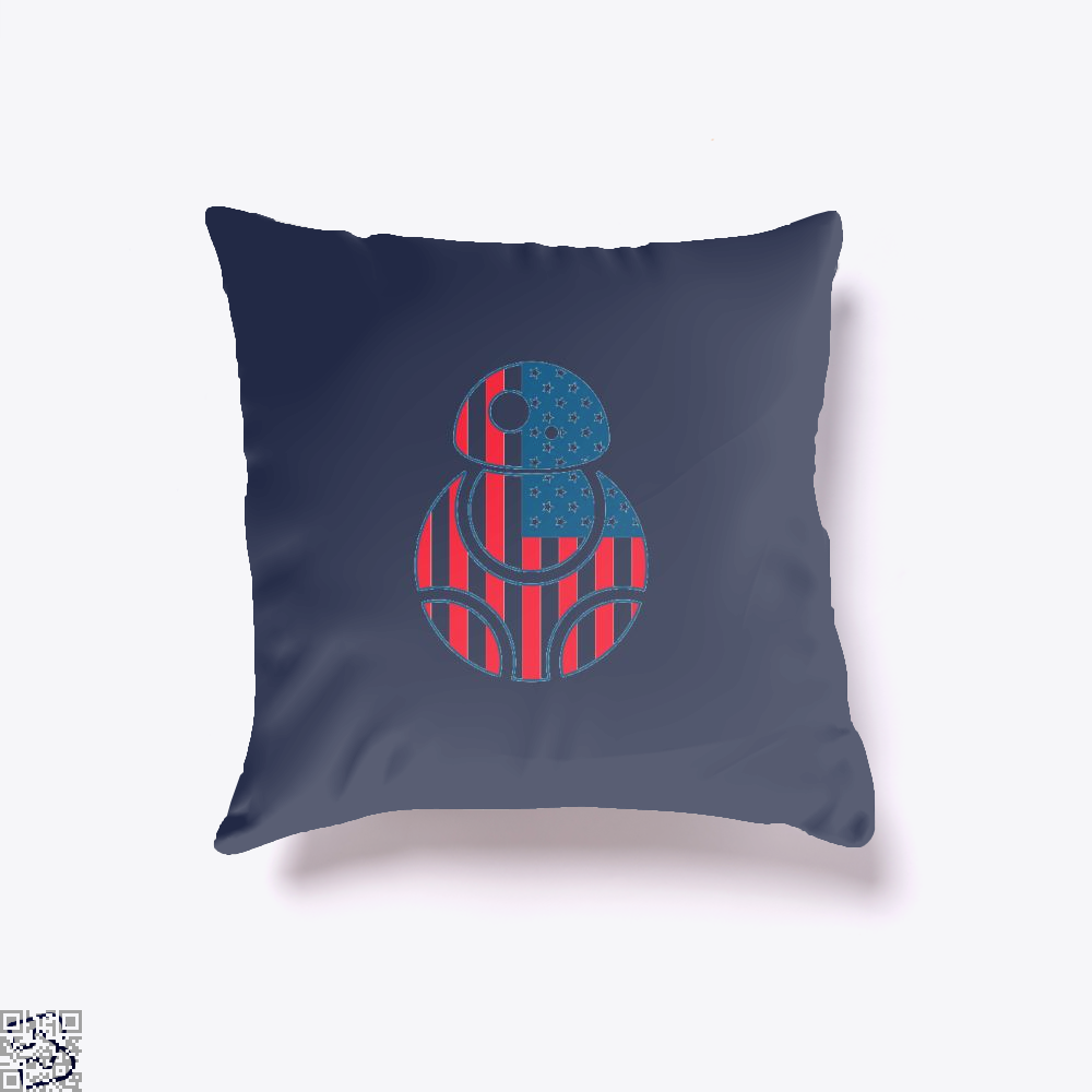 Bb Merica Independence Day Throw Pillow Cover - Blue / 16 X - Productgenjpg