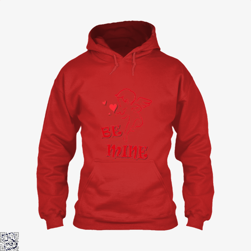 Be Mine Cupid Angel Valentines Day Hoodie - Red / X-Small - Productgenjpg