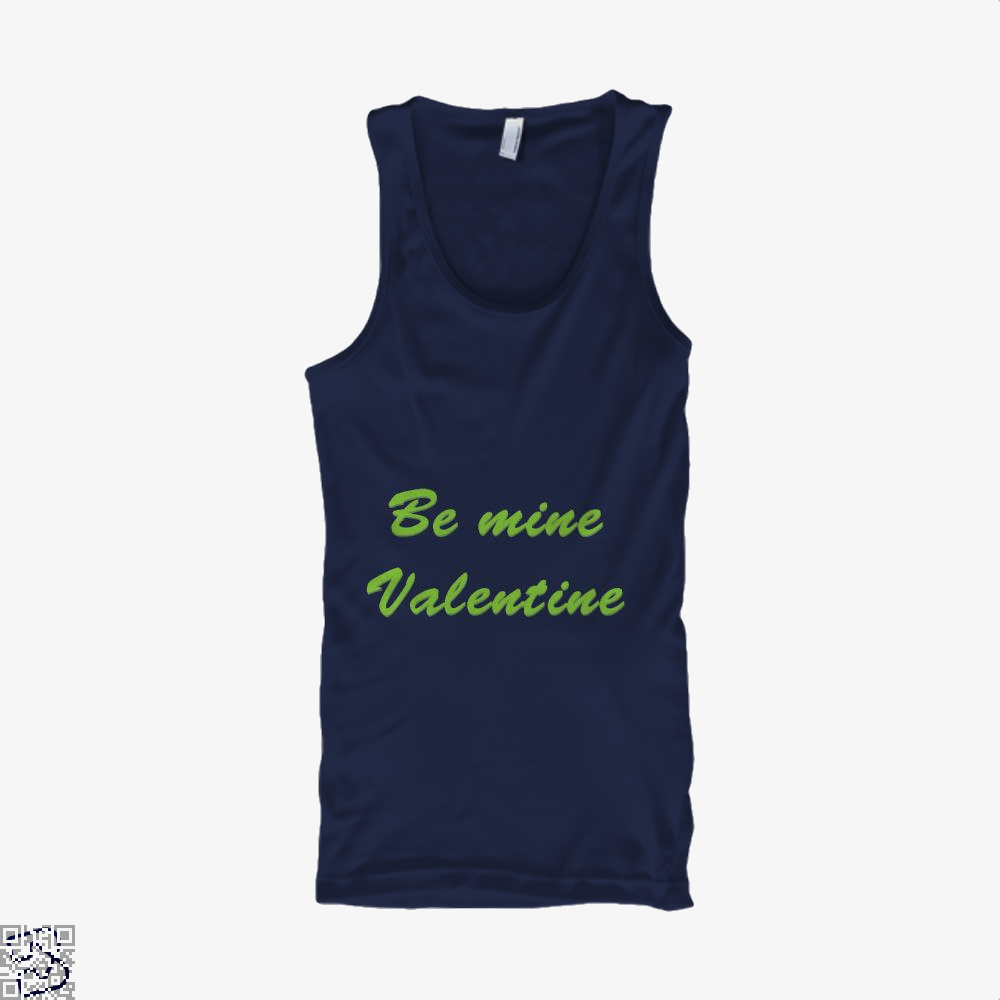 Be Mine Valentine Valentines Day Tank Top - Men / Blue / X-Small - Productgenjpg