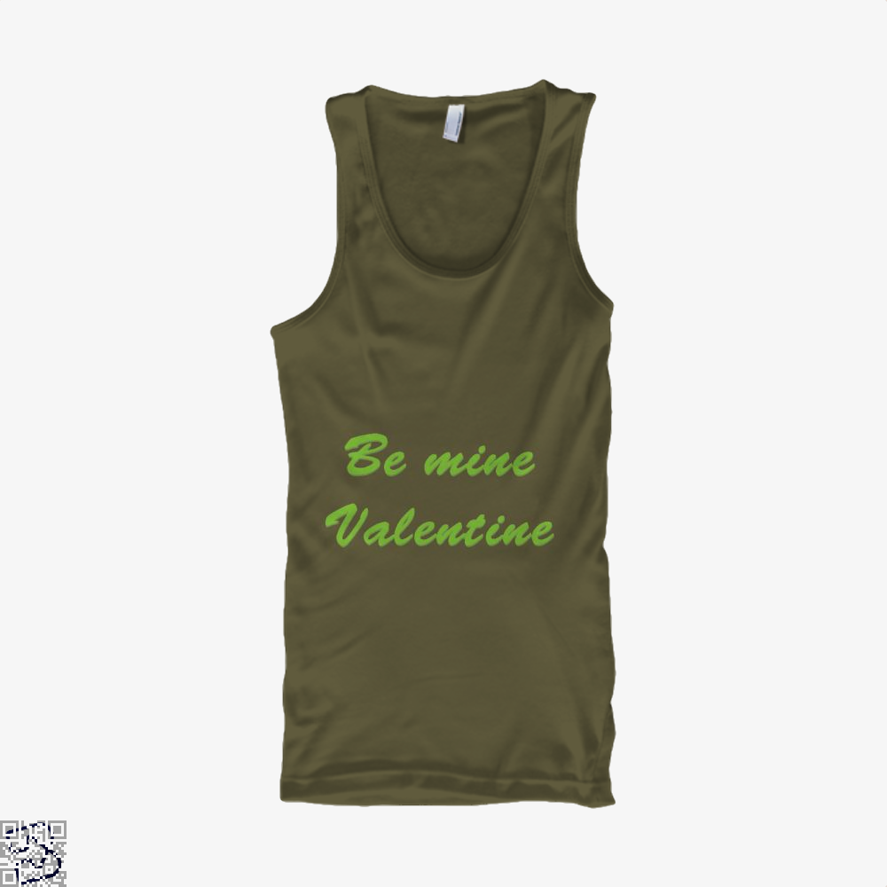 Be Mine Valentine Valentines Day Tank Top - Men / Brown / X-Small - Productgenjpg