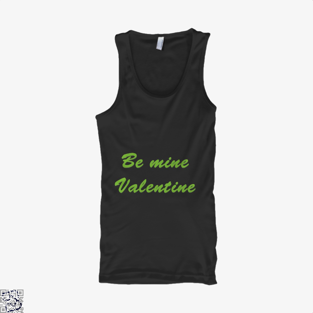 Be Mine Valentine Valentines Day Tank Top - Women / Black / X-Small - Productgenjpg