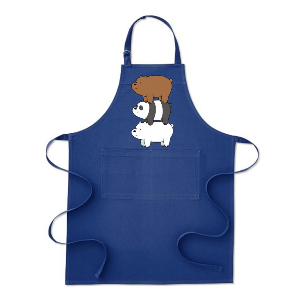 Bear Stack We Bare Bears Apron - Blue / Polyester - Productgenapi