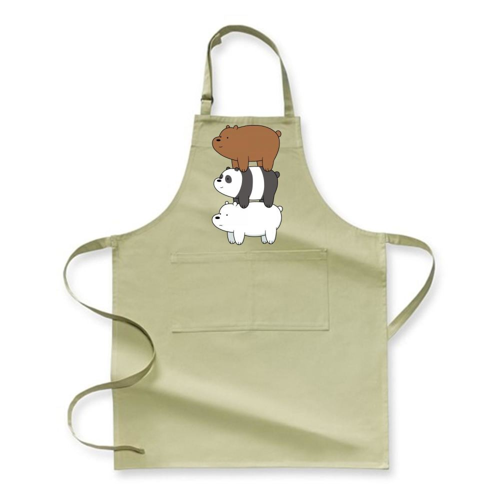 Bear Stack We Bare Bears Apron - Green / Polyester - Productgenapi
