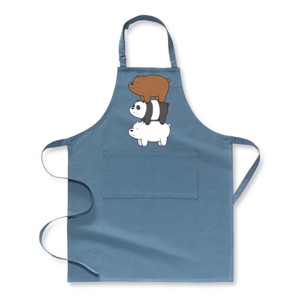 Bear Stack We Bare Bears Apron - Turquoise / Polyester - Productgenapi