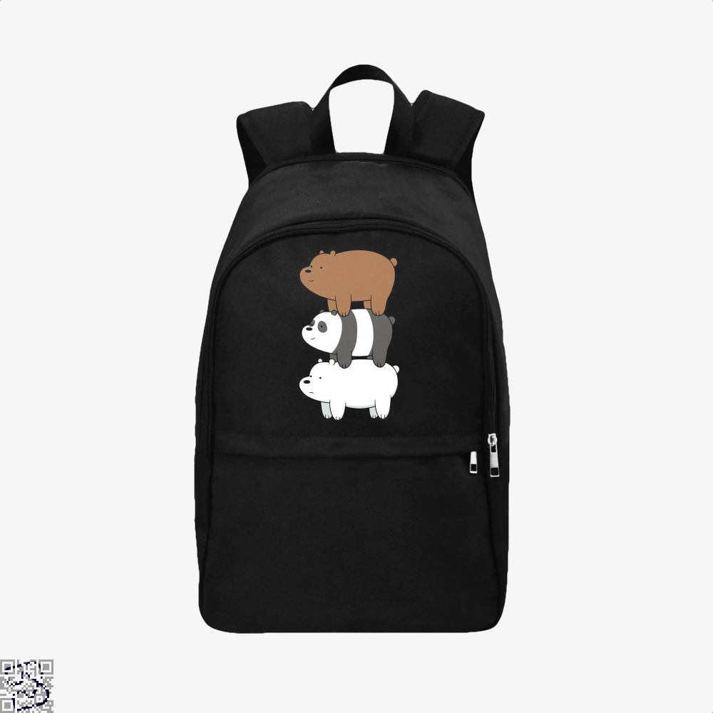 Bear Stack We Bare Bears Backpack - Black / Adult - Productgenapi
