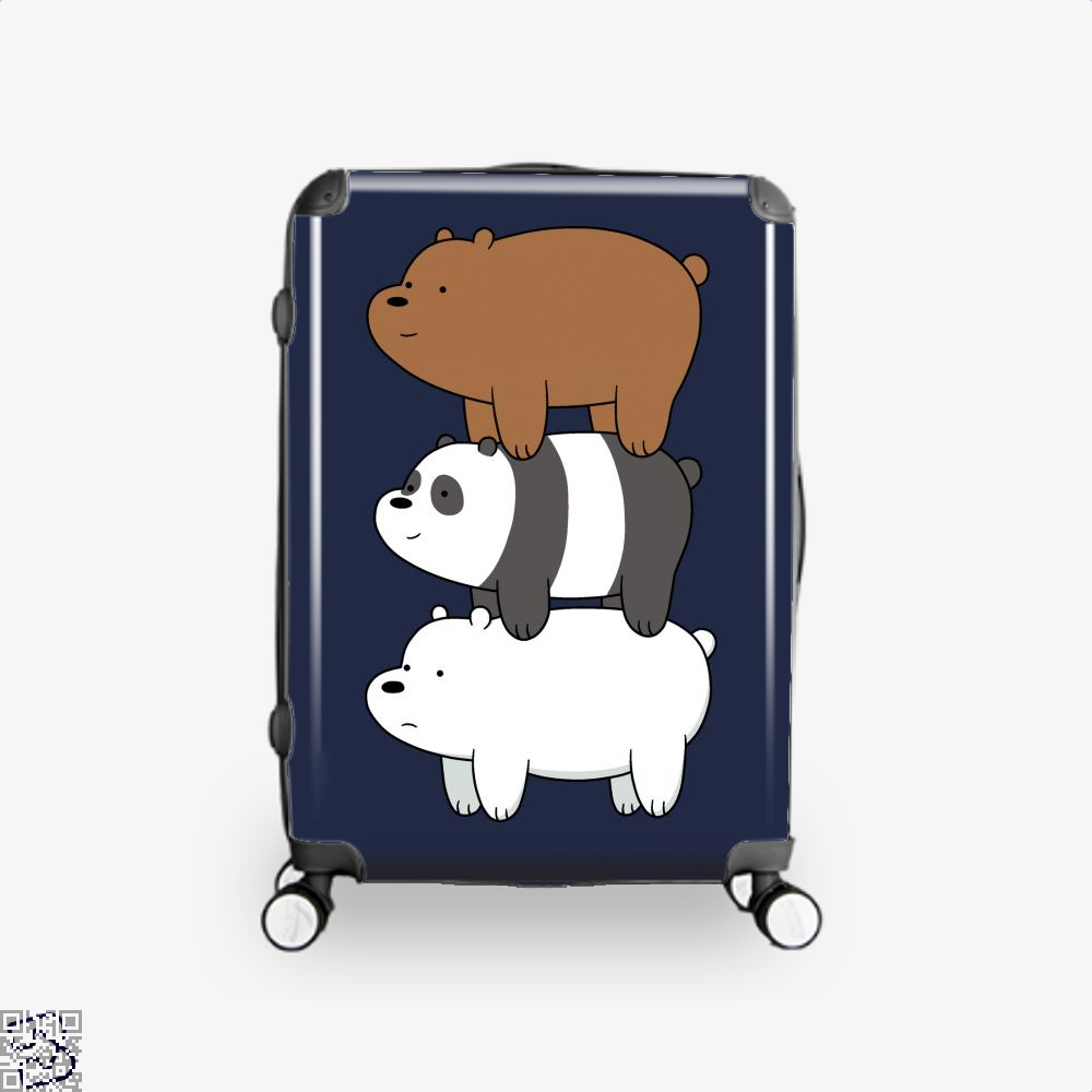 Bear Stack We Bare Bears Suitcase - Blue / 16 - Productgenapi