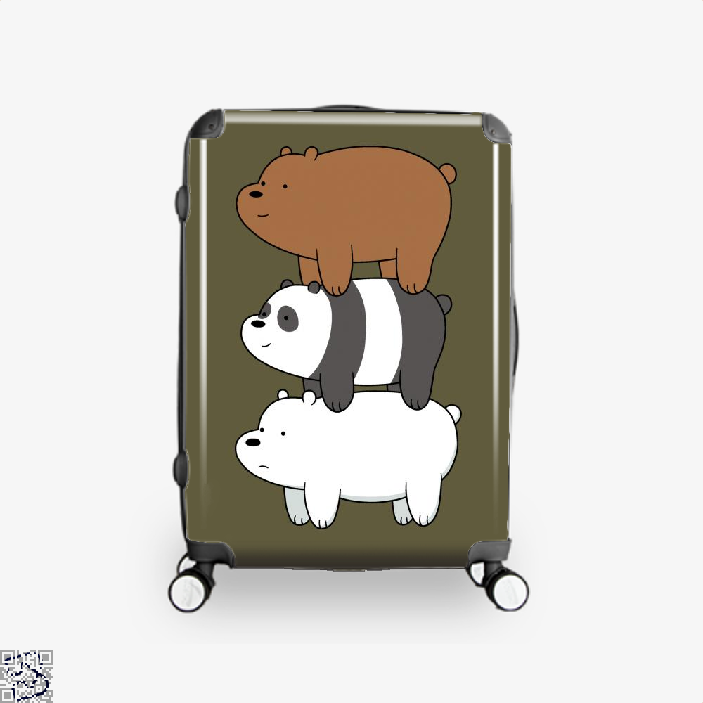 Bear Stack We Bare Bears Suitcase - Brown / 16 - Productgenapi