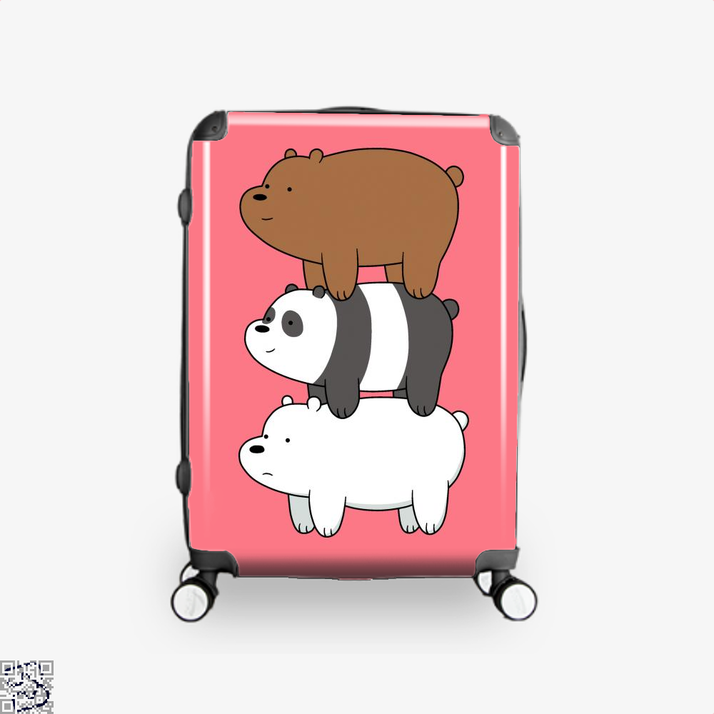 Bear Stack We Bare Bears Suitcase - Pink / 16 - Productgenapi