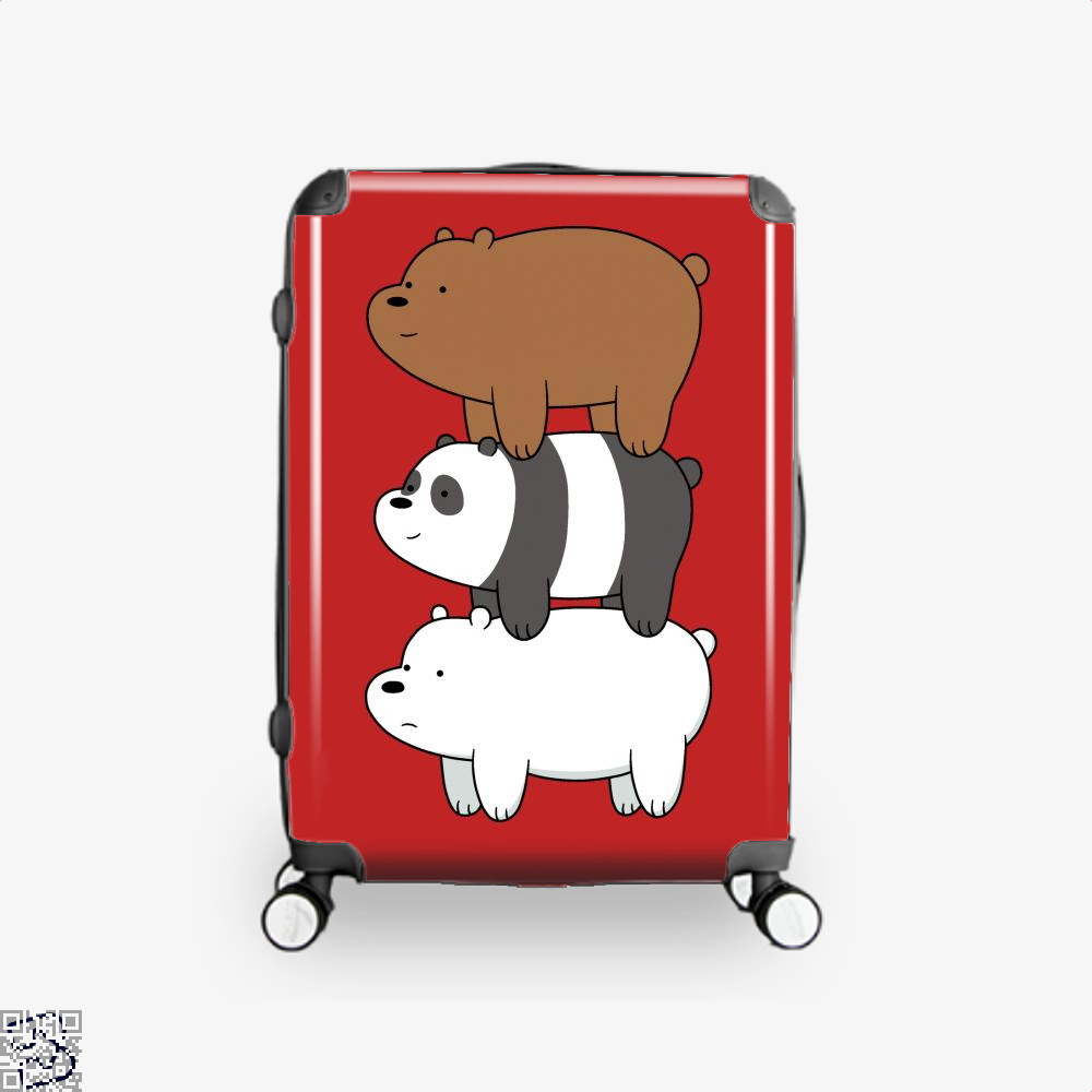 Bear Stack We Bare Bears Suitcase - Red / 16 - Productgenapi