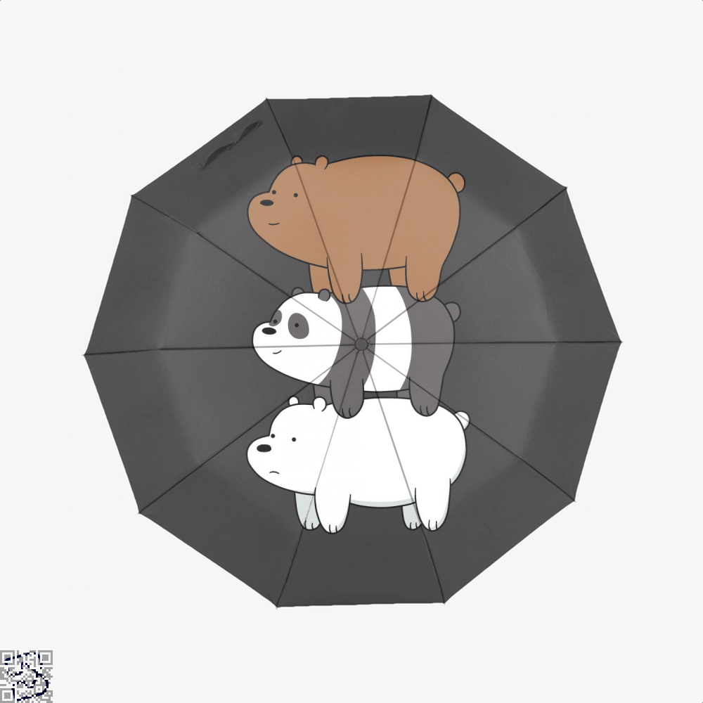 Bear Stack We Bare Bears Umbrella - Black - Productgenapi