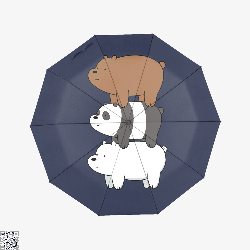 Bear Stack We Bare Bears Umbrella - Blue - Productgenapi