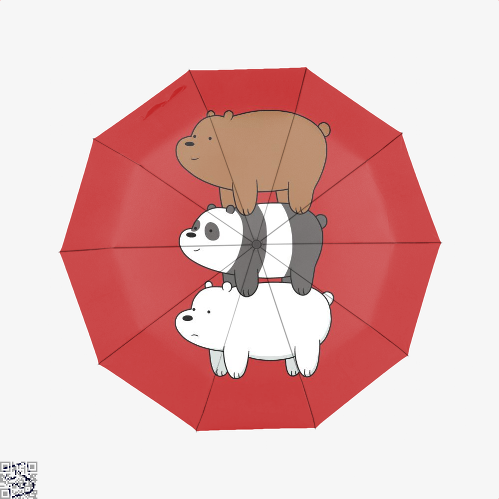 Bear Stack We Bare Bears Umbrella - Red - Productgenapi