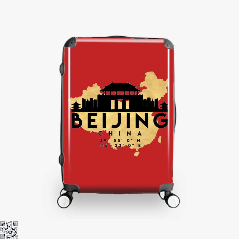 Beijing China Skyline Map My City Suitcase - Red / 16 - Productgenapi