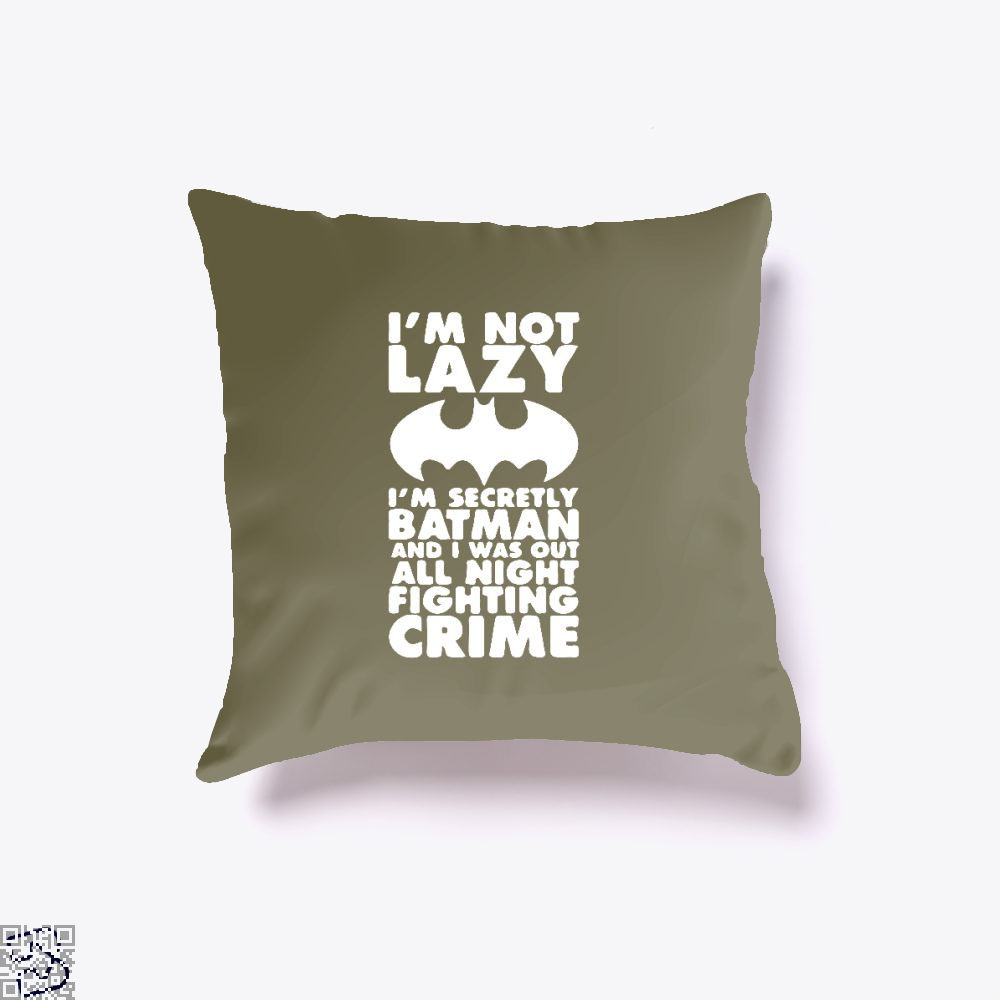 Being Batman Throw Pillow Cover - Brown / 16 X - Productgenjpg