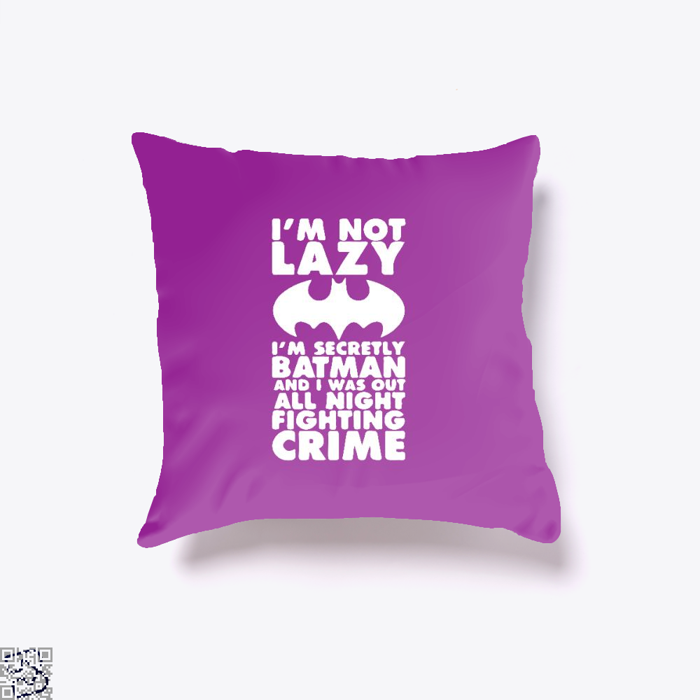 Being Batman Throw Pillow Cover - Purple / 16 X - Productgenjpg