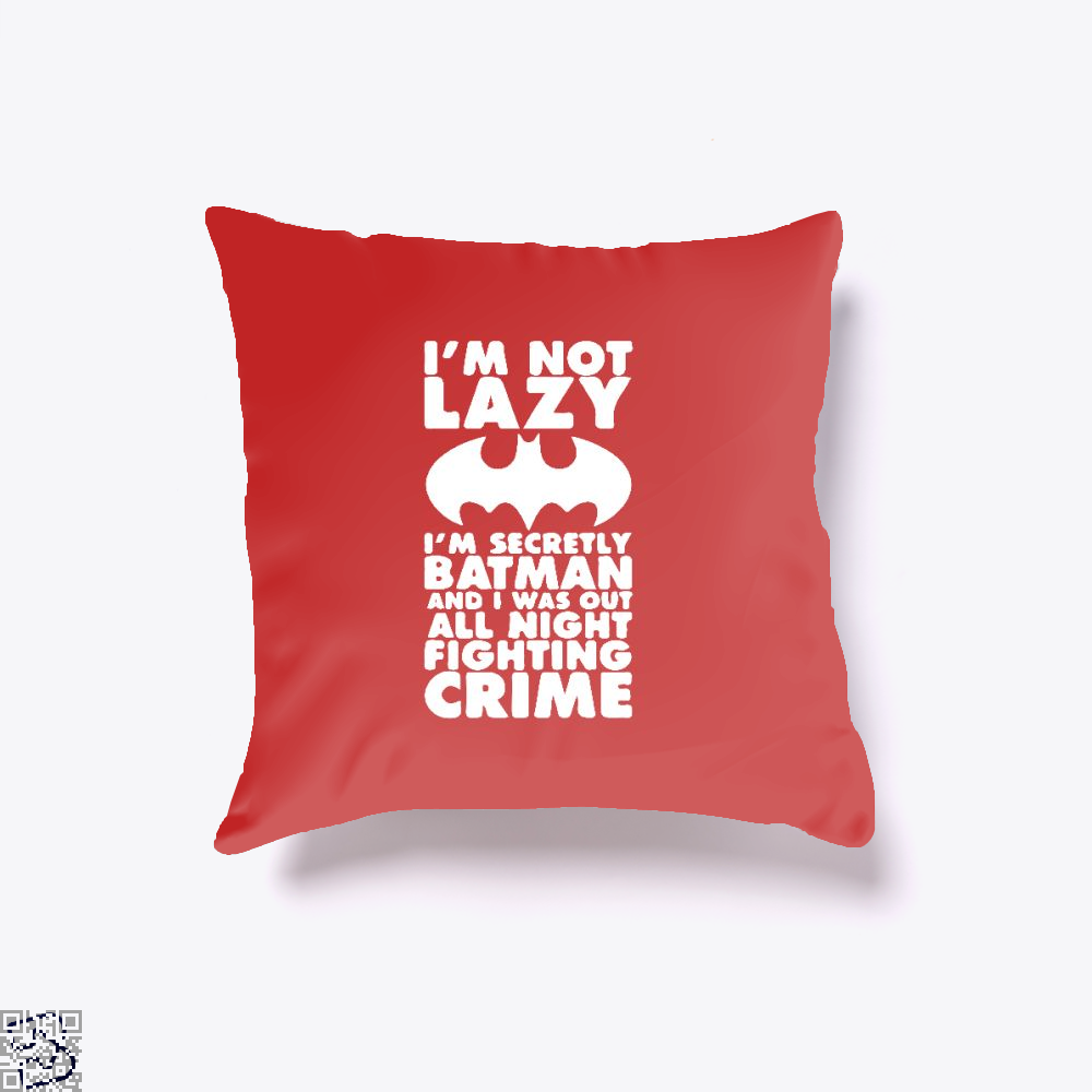 Being Batman Throw Pillow Cover - Red / 16 X - Productgenjpg