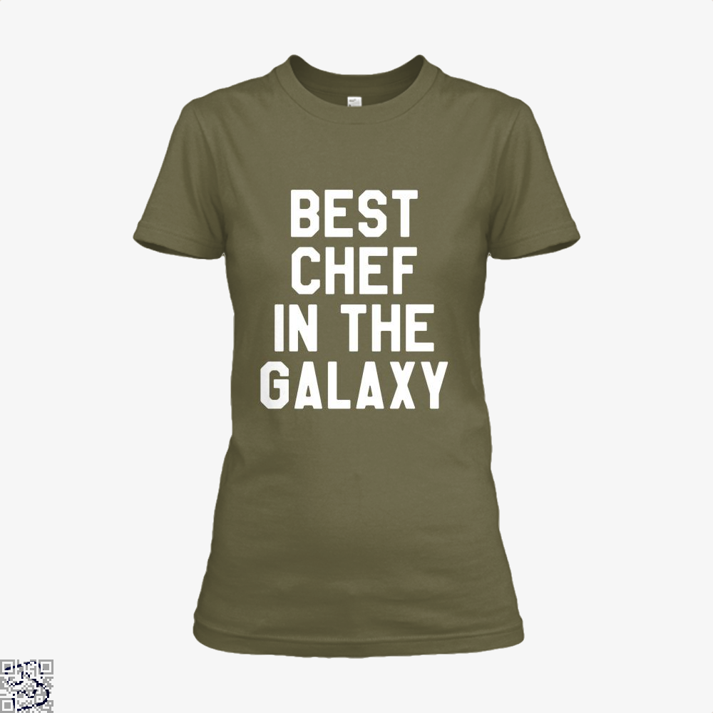 Best Chef In The Galaxy Chefs Shirt - Women / Brown / X-Small - Productgenapi